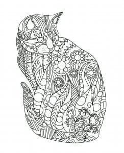 раскрашивать раскраски кошек