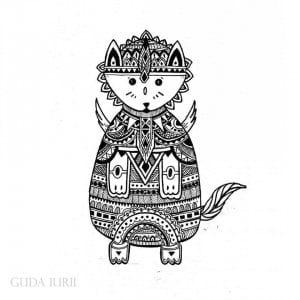 раскраска антистресс для детей кошки
