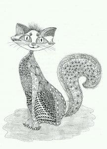 раскраска антистресс мир кошек