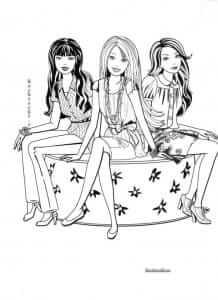 раскраска барби для девочек 7 А4
