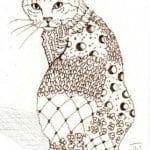 раскраска для детей кошка