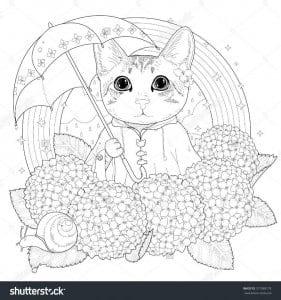 раскраска для девочек животные кошки