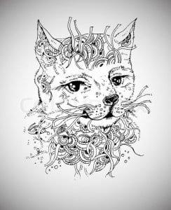 раскраска для малышей кошка