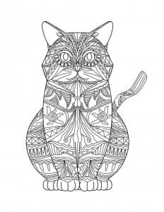 раскраска кошка картинка