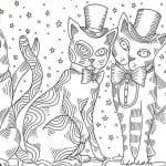раскраска кошки для девочек онлайн бесплатно