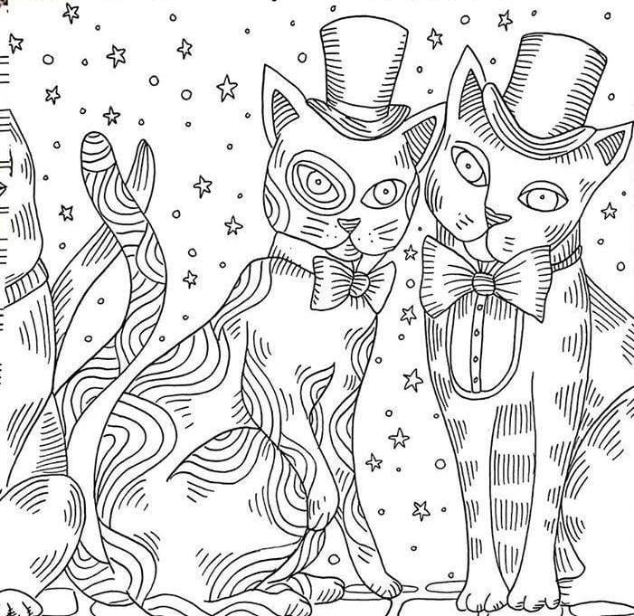 раскраска кошки для девочек онлайн бесплатно - Рисовака