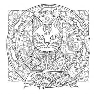 раскраска распечатать картинка кошки