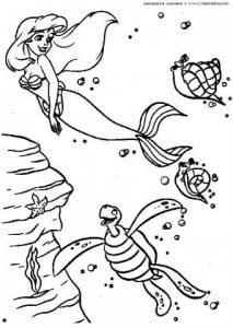 раскраска русалочка распечатать бесплатно в хорошем качестве