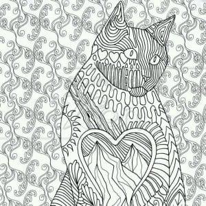раскраски антистресс кошка в хорошем качестве А4