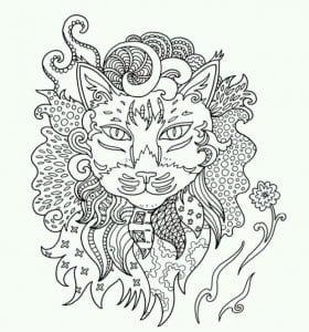 раскраски антистресс коты и кошки А4