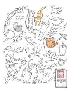раскраски антистресс про кошки распечатать