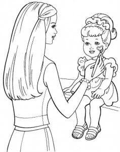 раскраски для девочек 10 лет барби А4