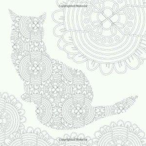 раскраски для девочек антистресс кошки А4