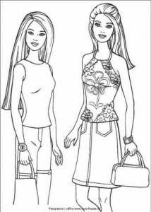 раскраски для девочек куклы барби