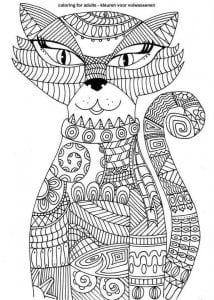 раскраски для девочек распечатать бесплатно кошки