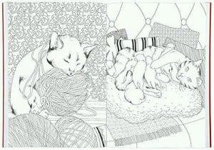 раскраски для девочек распечатать бесплатно кошки А4