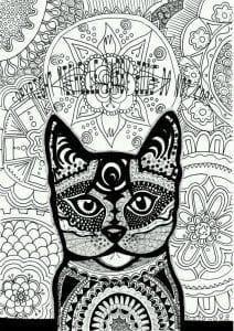 раскраски для самых маленьких кошка А4