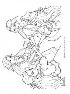 раскраски картинки для девочек барби