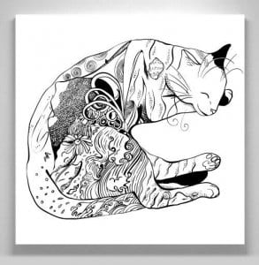 раскраски кошек картинки