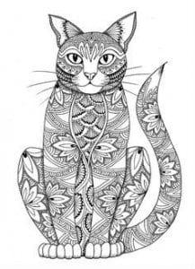 раскраски кошек раскрашивать