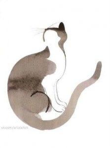 раскраски кошка сложные