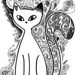 раскраски кошки арт