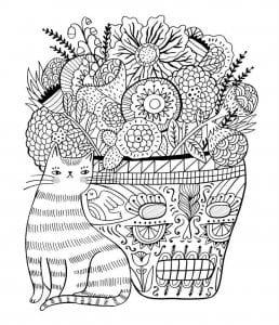 раскраски кошки печать