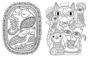 раскраски коты и кошки распечатать А4