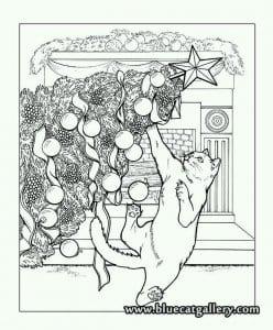 раскраски коты и кошки распечатать