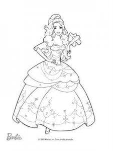 раскраски принцесса барби распечатать бесплатно