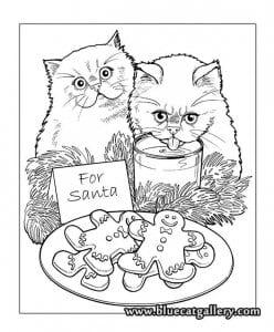 раскраски про кошек А4