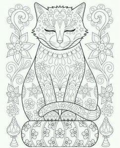 раскраски про кошек распечатать А4