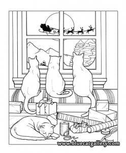 раскраски про котят и кошек А4