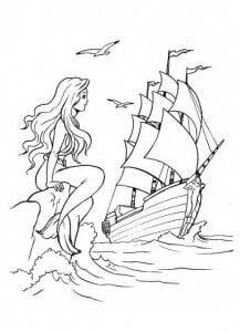 раскраски русалочка картинки из мультфильма