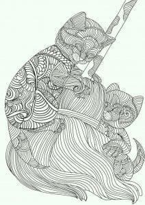 раскраски животные кошки