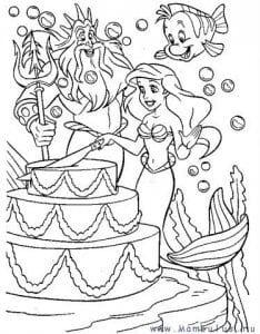 распечатать бесплатно раскраски для девочек русалочка