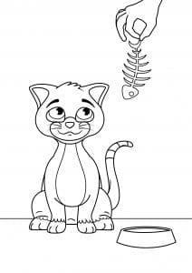 распечатать бесплатно в хорошем качестве раскраска кошки