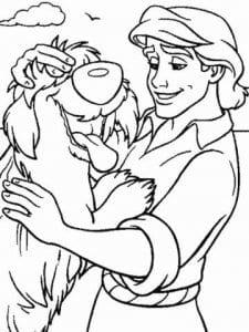 русалочка картинки из мультфильма раскраски