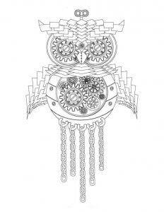 сова раскраска (117)