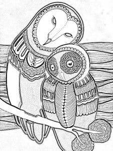 сова раскраска (129)