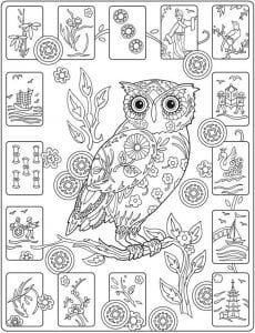 сова раскраска (135)