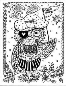 сова раскраска (138)