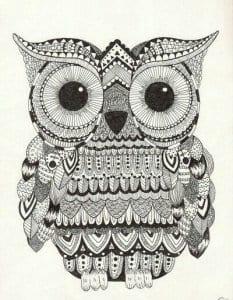 сова раскраска (145)