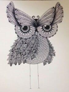 сова раскраска (146)