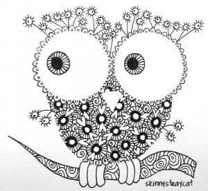 сова раскраска (151)