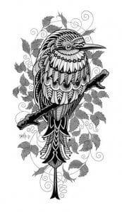 сова раскраска (165)