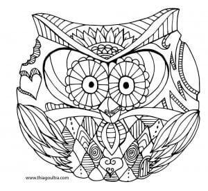 сова раскраска (167)