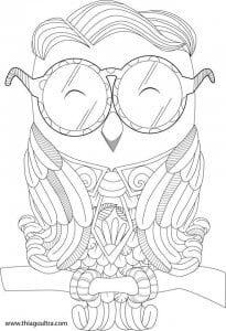 сова раскраска (168)