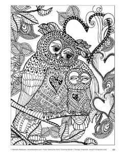 сова раскраска (17)
