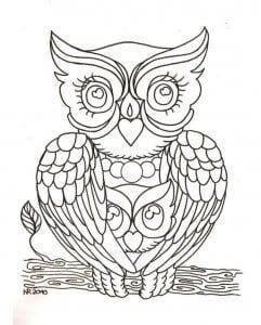 сова раскраска (172)